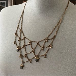 Free People Droplet Cage Collar Necklace